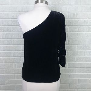 5b7c7fc3bfb298 Joie Tops - Joie Wayman One-Shoulder Velvet Top Black NWT 8 -